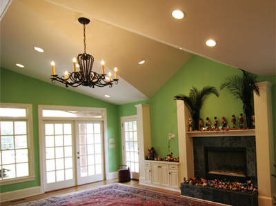 Columbia Electric Ceiling Remodel with can lights