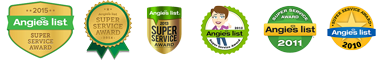 Columbia Electric Service Angie's List Super Service Award 2015 2014, 2013, 2012, 2011, 2010